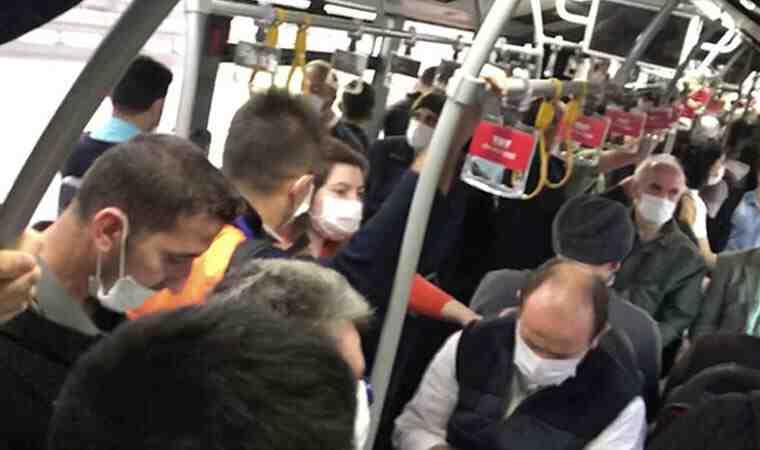 Metrobüsler yine tıklım tıklım