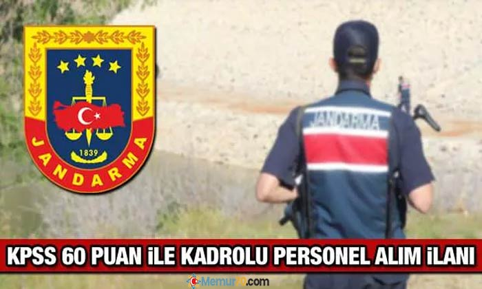 Jandarma'ya kadrolu personel alınıyor