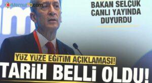 Tarih belli oldu! Milli Eğitim Bakanı Selçuk'tan son dakika yüz yüze eğitim duyurusu!