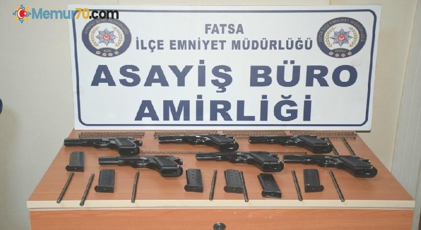 Fatsa'da 6 adet kaçak silah ele geçirdi: 2 gözaltı