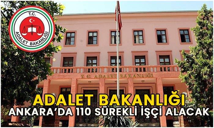 Adalet Bakanlığı 155 sürekli işçi alacak