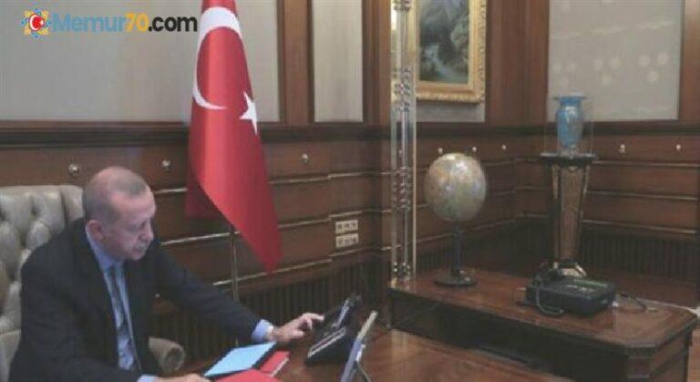 Cumhurbaşkanı Erdoğan, Bakanı Akar'dan bilgi aldı