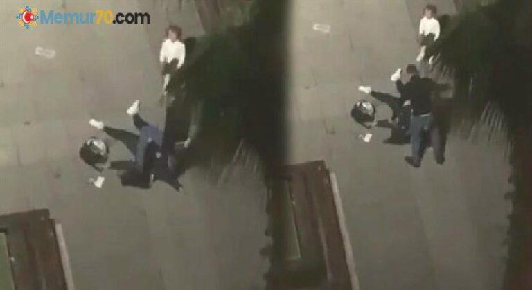 Eşine sokak ortasında şiddet uygulayan şüphelin gözaltına alındı