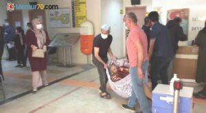 Hastanın battaniyede taşınmasına soruşturma