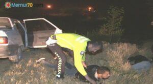 Çalıntı araçla başka şehre gezmeye giden 3 kafadar 88 kilometre sonra yakalandı