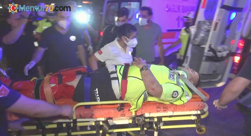 Bursa'da alkollü sürücü polis noktasına böyle daldı: 2'si polis 4 yaralı