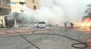 Kayseri'de yangın