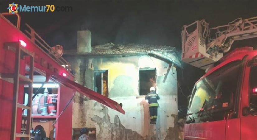 Konya'da müstakil evde yangın: 3 çocuğun cesedi çıkarıldı