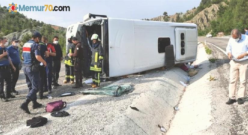 Lösemili öğrencileri taşıyan tur otobüsü devrildi: 4'ü ağır 15 yaralı