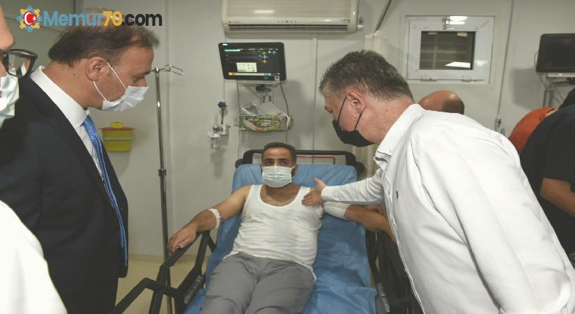 Şanlıurfa Valisi Erin yaralı polisleri ziyaret etti