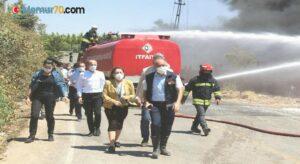 Gaziantep'te depoda çıkan yangına müdahale sürüyor