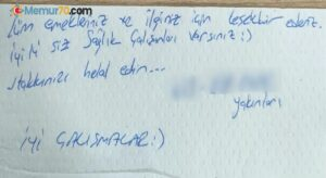 Hastaneden taburcu olan kadının yakınlarının bıraktığı not duygulandırdı