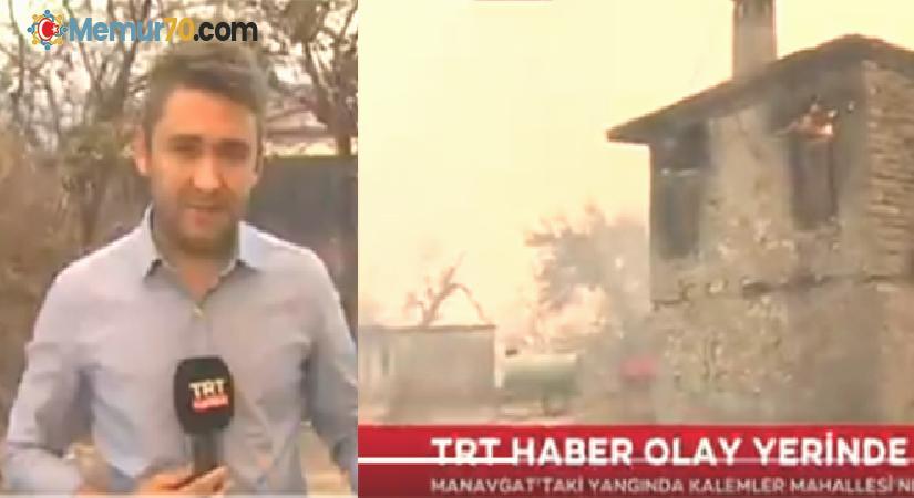 TRT Haber muhabiri, canlı yayında gözyaşlarına boğuldu