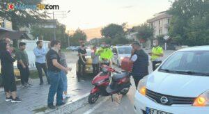 Otomobil ile elektrikli bisiklet çarpıştı, 1 kişi yaralandı