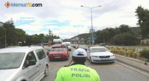 Samsun'da 247 araç trafikten men edildi