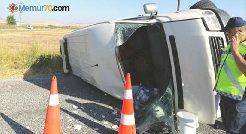 Tarım işçilerini taşıyan minibüs devrildi: 1 kişi öldü, 15 kişi yaralandı