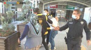 Çaldığı otomobille kovalamaca sonucu yakalandı, tutuklandığı adliyede annesi saldırdı