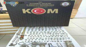 İstanbul'da kadim medeniyetlere ait antika eserleri satan 2 şüpheli yakalandı