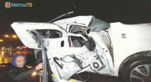 Samsun'da hafif ticari araç tır ile çarpıştı: 2 yaralı