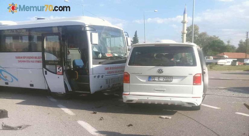 Samsun'da zincirleme trafik kazası: 5 yaralı